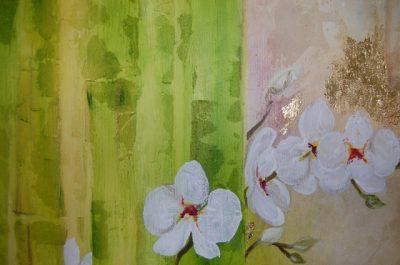 Karawane der Kreativität Buddha Bambus Orchidee