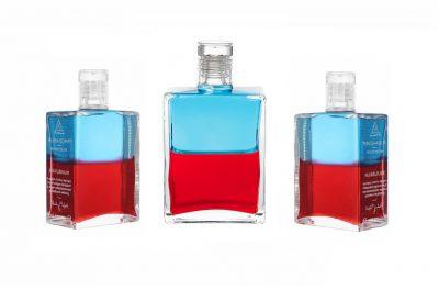 "Neue Aura-Soma Equilibrium Flasche - B117 ""Pan"" Türkis/Rot"